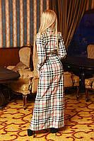 Женское платье-рубашка в пол БАТАЛ, фото 1