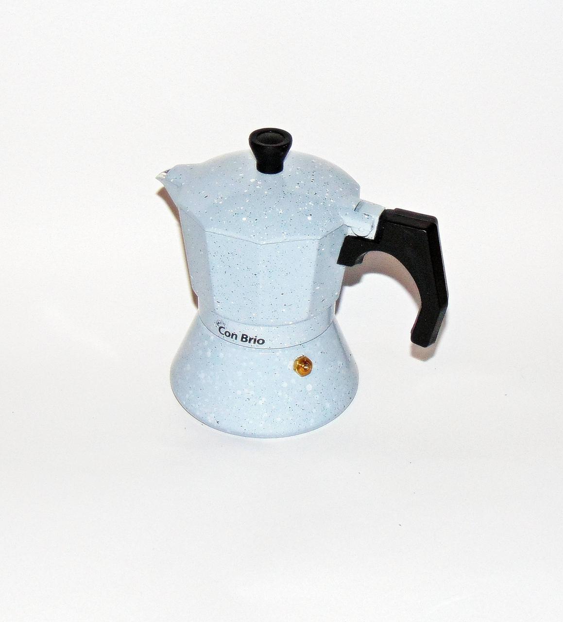 Кофеварка гейзерная алюминиевая  на 3 чашки индукция