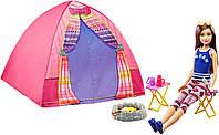 Barbie Лагерь сестер Барби и кукла Скиппер Camping Fun Doll Skipper And Tent including Doll