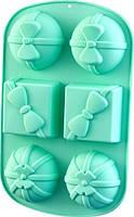 Форма 28х17.5х4см силиконовая для выпечки 6 кексов Fissman