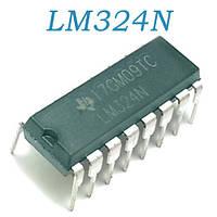 LM324N, Счетверенный ОУ общего применения, DIP-14