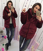 Куртка (S-M, M-L) —Бархат синтепон 200 от компании Discounter.top