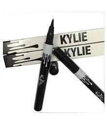 Черный суперстойкий карандаш-подводка для глаз в стиле Kylie