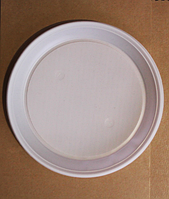 Тарелка одноразовая пластиковая d 165 мм / уп-100 шт.