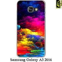 Чехол для Samsung Galaxy A3 2016, бампер, F012, радужные облака