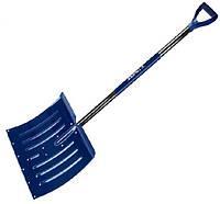 Лопата для снега, алюминиевая, металлическое лезвие скребка, 460мм х 1250мм