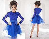 Платье (42,44,46) —гипюр+парча+фатин от компании Discounter.top