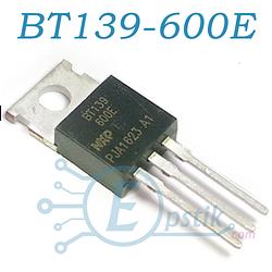 BT139-600E, симистор 600В, 16А, TO220