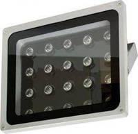 Прожектор светодиодный LL-121 квадратный 20LED/1W-белый 230V серый (IP65) 284*232*150мм