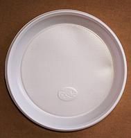 Тарелка одноразовая пластиковая d 205 мм / уп-100 шт.