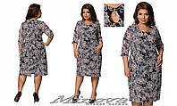 Нежное гипюровое платье с подкладкой с 54 по 64 размер, фото 1