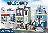Конструктор Lele 30017  Торговая улица 2 вида (аналог Lego Creator)