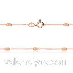Серебряная цепочка с позолотой 252А 2