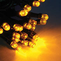 Гирлянда Бахрома 3х0.5м черный кабель 100 led желтый цвет