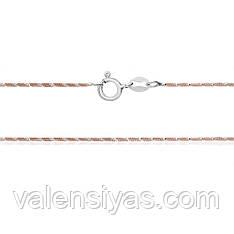 Серебряная цепочка с позолотой 256А 2