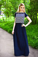 Женское летнее платье в пол с открытой спиной, фото 1