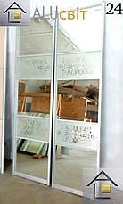Фасады (двери) купе - раздвижные системы художественное матирование (пескоструй), фото 2