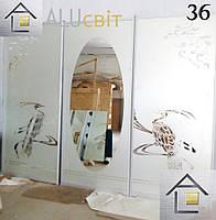 Фасады (двери) купе - раздвижные системы художественное матирование (пескоструй)