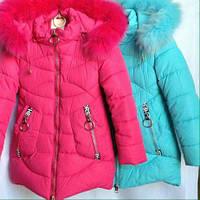 Зима 2017-2018 г. Зимняя куртка парка для девочек 6-10 лет, фото 1