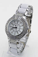 Женские кварцевые наручные часы Fashion белые c cеребристым