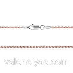 Серебряная цепочка с позолотой 802А 4/50
