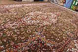 КЛАССИЧЕСКИЙ КОВЕР АBRISHIM 3811 ЗЕЛЕНЫЙ С КРЕМОВЫМ, фото 5