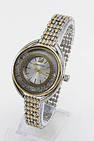 Женские кварцевые наручные часы Swarovski с металлическим ремешком серебристые с золотым
