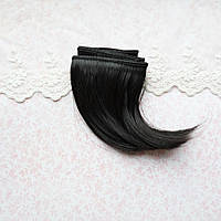 Волосы для Кукол Трессы Боб ЧЕРНЫЕ 25 см