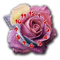 """Фигурныенастенные часы """"Роза"""" 30х30 см"""