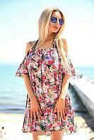 Женское летнее платье c открытыми плечами, фото 1
