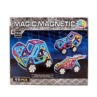 Детский магнитный конструктор 66 деталей