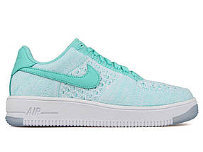 Кроссовки женские NIKE Air Force 1 Flyknit Green/White, фото 2