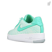 Кроссовки женские NIKE Air Force 1 Flyknit Green/White, фото 3