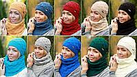 Комплект шапка и шарф оптом