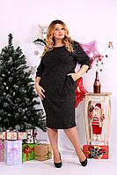 Черное платье с карманами из ангоры 0649