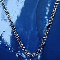 Серебряная цепочка, 550мм, 15 грамм, плетение Бисмарк, чернение, фото 3