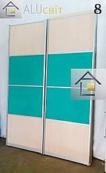 Фасады (двери) купе комбинированные для шкафов купе