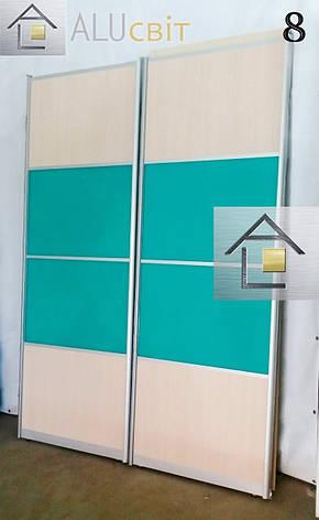 Фасады (двери) купе комбинированные для шкафов купе, фото 2