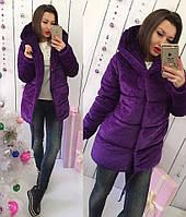 Куртка (S-M, M-L) —Бархат синтепон 200 купить оптом и в розницу в о