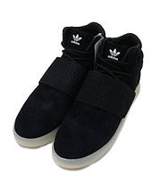 Мужские кроссовки Adidas TUBULAR invader strap черно/белые, фото 3