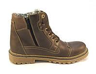 Ботинки  мужские  с мехом Vortex кожаные коричневые (р.41,42,43,45)