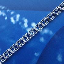 Срібна ланцюжок, 450мм, 13 грам, плетіння Бісмарк, чорніння, фото 3