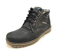 Ботинки  мужские с мехом TIMBERLAND кожаные черные (р.42,43,44,45)