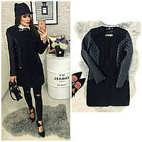 Женское пальто (42,44,46,48) —кашемир подкладка на синтепоне 150 от компании Discounter.top