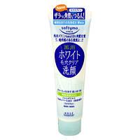 Лечебная осветляющая пенка-скраб Kose SOFTYMO Medicated White Washing Foam in Scrub, оригинал