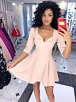 Платье клеш  с отворотом на декольте Модель 1077  (ИНГ)