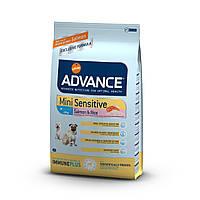 Корм ADVANCE (Эдванс) Dog Mini Sensitive для взрослых собак мелких пород с чувствительным пищеварением, 7,5 кг