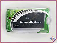Универсальный блок питания 220V в 12-24V 90W Slim. Автовольтаж, LCD дисплей. Совместим с большинством моделей ноутбуков