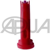 Распылитель форсунки опрыскивателя полимерный щелевой двухструйный инжекторный 90° красный 04 Agroplast (Агропласт)