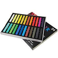 Мелки (пастель) для волос Hair Chalk 24 цвета